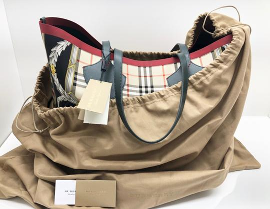 Burberry Check Giant Large Tote in Leather Image 10