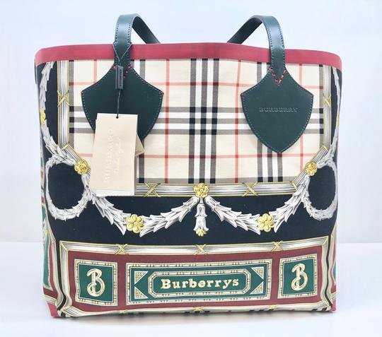 Burberry Check Giant Large Tote in Leather Image 2