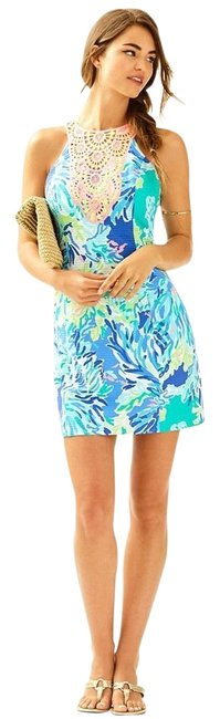 Preload https://img-static.tradesy.com/item/25845188/lilly-pulitzer-brilliant-blue-wade-and-sea-pearl-shift-printed-23934-new-short-cocktail-dress-size-2-0-1-650-650.jpg