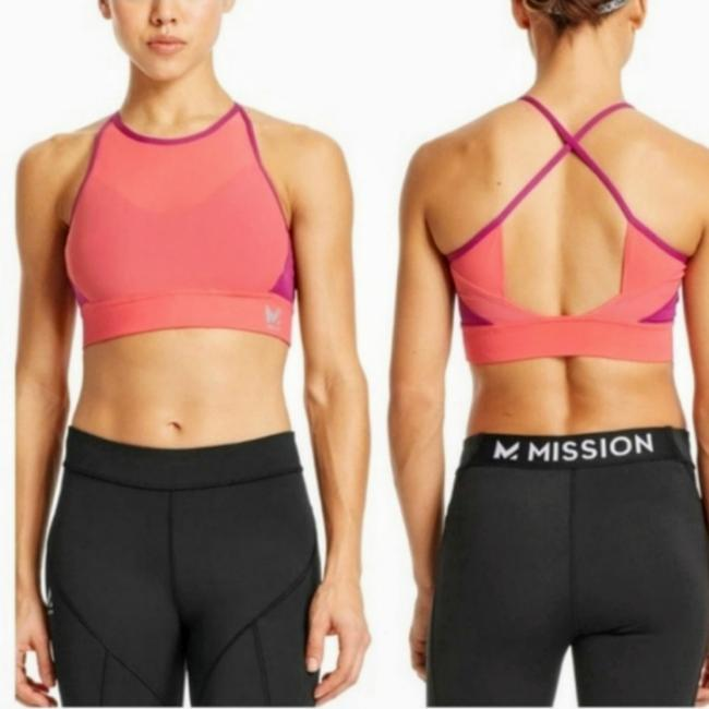 Preload https://img-static.tradesy.com/item/25845197/pink-and-orange-mission-vapor-active-activewear-sports-bra-size-4-s-0-0-650-650.jpg