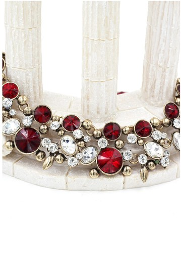 Ocean Fashion Noble gold red crystal earrings necklace set Image 3