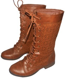 Forever 21 Lace Up Granny Style Lace Up Style Granny Brown Boots