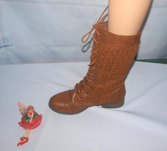 Forever 21 Lace Up Granny Style Lace Up Style Granny Brown Boots Image 1