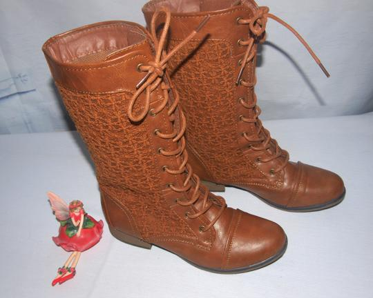 Forever 21 Lace Up Granny Style Lace Up Style Granny Brown Boots Image 3
