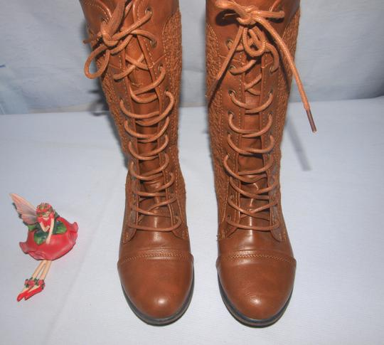 Forever 21 Lace Up Granny Style Lace Up Style Granny Brown Boots Image 5