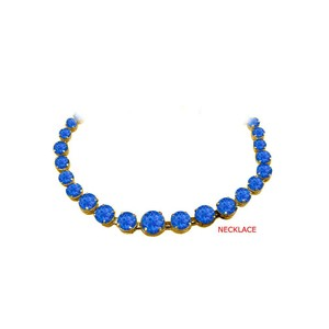Marco B September Birthstone Sapphire Graduated Necklace