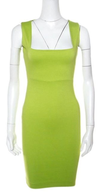 Preload https://img-static.tradesy.com/item/25845396/dsquared2-green-lime-square-neck-sleeveless-fitted-short-casual-dress-size-4-s-0-1-650-650.jpg