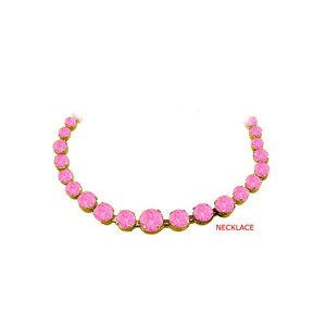 Marco B September Birthstone Pink Sapphire Graduated Necklace