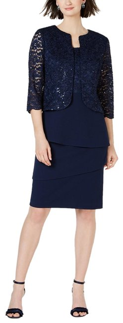 Preload https://img-static.tradesy.com/item/25845419/alex-evenings-navy-sequin-and-lace-short-jacket-and-mid-length-formal-dress-size-16-xl-plus-0x-0-1-650-650.jpg