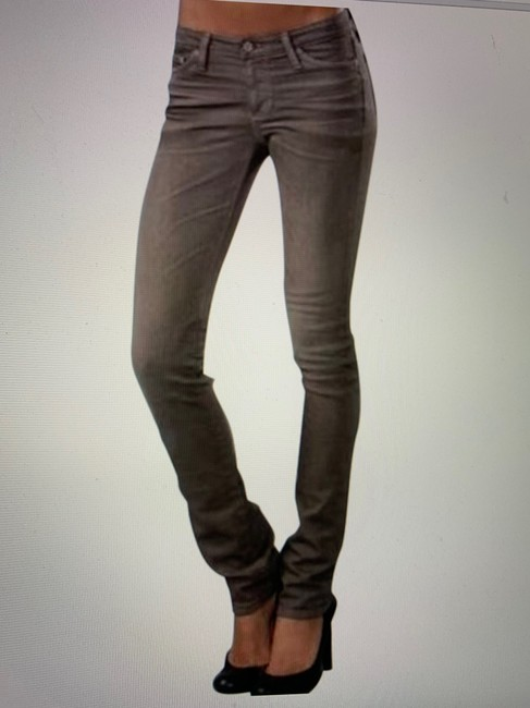 AG Adriano Goldschmied Straight Skinny Jeans-Light Wash Image 1