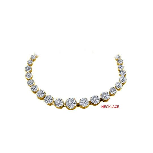 Preload https://img-static.tradesy.com/item/25845498/white-cubic-zirconia-graduated-yellow-gold-vermeil-necklace-0-0-540-540.jpg
