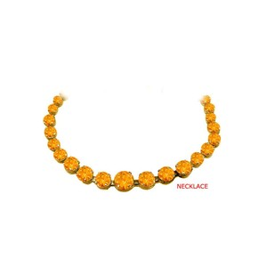 Marco B Glamorous Citrine Graduated Necklace in 18K Yellow Gold