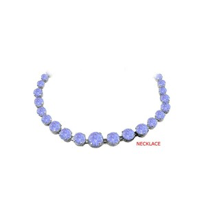 Marco B Newest Tanzanite Graduated Necklace in Sterling Silver