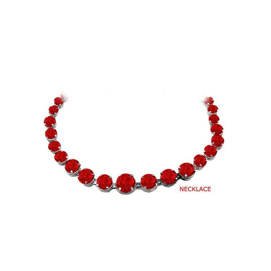 Preload https://img-static.tradesy.com/item/25845532/red-ruby-graduated-925-sterling-silver-30-ct-tgw-necklace-0-0-540-540.jpg