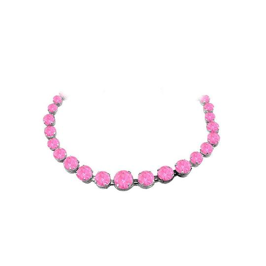 Preload https://img-static.tradesy.com/item/25845541/pink-sapphire-graduated-925-sterling-silver-necklace-0-0-540-540.jpg