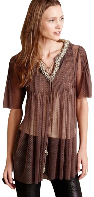 Preload https://img-static.tradesy.com/item/25845629/anthropologie-taupe-hemant-and-nandita-tibba-tunic-size-12-l-0-1-650-650.jpg