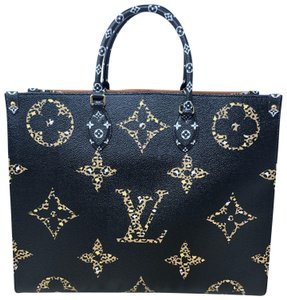 Louis Vuitton Onthego Onthego Black Onthego Jungle Jungle Giant Monogram Giant Tote in Noir