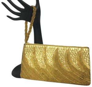 Vintage Gold Evening Wristlet Wristlet in gold