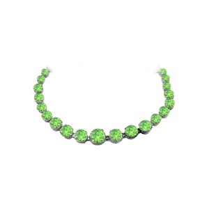 Marco B Spring Peridot Graduated Necklace in Sterling Silver