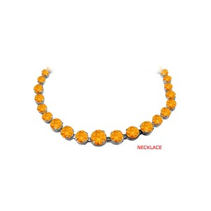 Marco B Sunny Citrine Graduated Necklace in 925 Sterling Silver