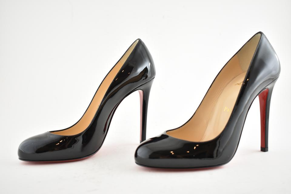 moins cher fe0ec e8f5d Christian Louboutin Black Fifille 100 Patent Leather Classic Round Toe  Stiletto Heel Pumps Size EU 35.5 (Approx. US 5.5) Regular (M, B)
