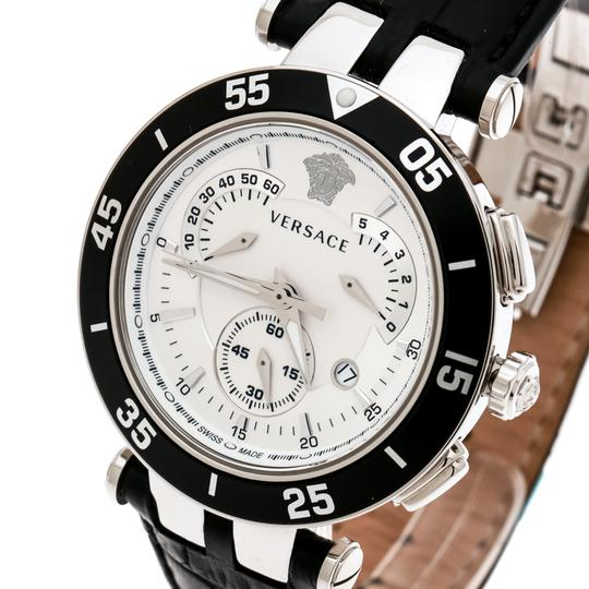 Versace SIlver White Stainless Steel V Race 23C Women's Wristwatch 42 mm Image 1