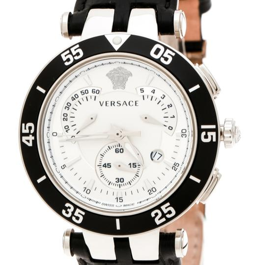 Versace SIlver White Stainless Steel V Race 23C Women's Wristwatch 42 mm Image 2