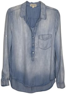 Cloth & Stone Chambray Popover Top light blue