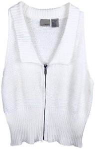 Easel Collar Sleeveless Zip Up Vest Sweatshirt