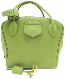Louis Vuitton Lv Haute Maroquinerie Calfskin Milaris Tote in GREEN