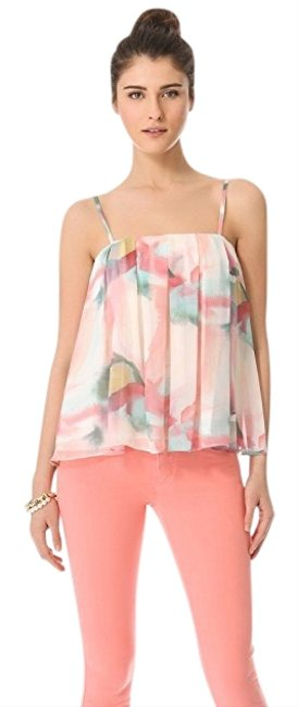 Item - Dove Floral Coral Flowy Printed Tank Top/Cami Size 8 (M)