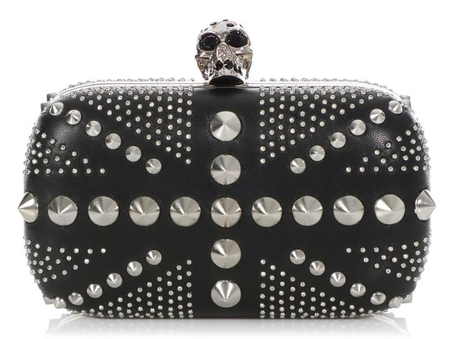 Alexander McQueen Studded Union Jack Black Leather Clutch Alexander McQueen Studded Union Jack Black Leather Clutch Image 1