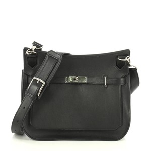 Hermès Jypsiere Swift black Messenger Bag