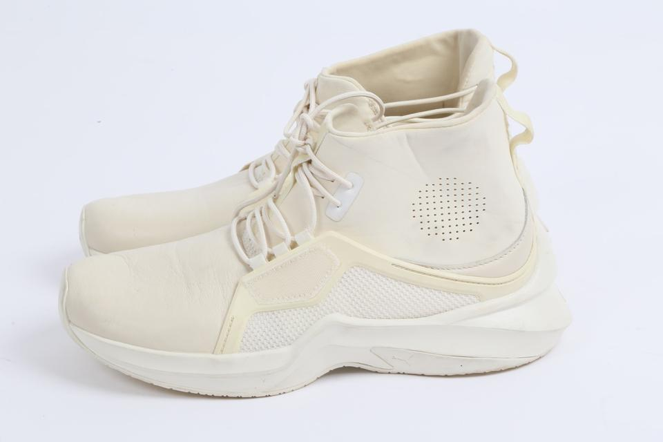 super popular aa3db fe49c FENTY PUMA by Rihanna White Ignite Lace Up High Trainer Sneakers Size US  7.5 Regular (M, B)