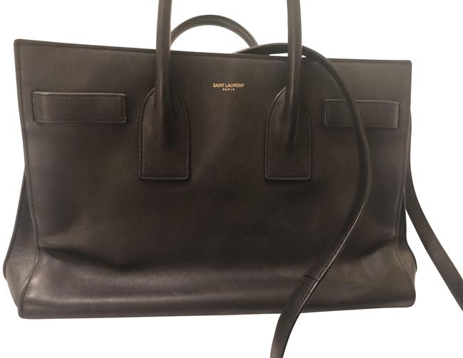 Item - Sac de Jour Ysl Tote Black Leather Messenger Bag