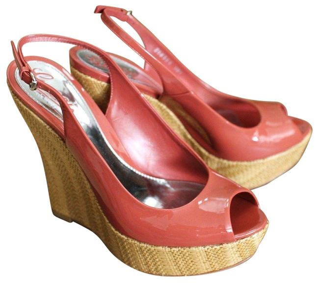 Item - Coral Patent Leather Wedges 39/9 258355 6411 Platforms Size EU 39 (Approx. US 9) Regular (M, B)