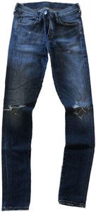 Citizens of Humanity Distressed Ripped Demin Skinny Jeans-Medium Wash