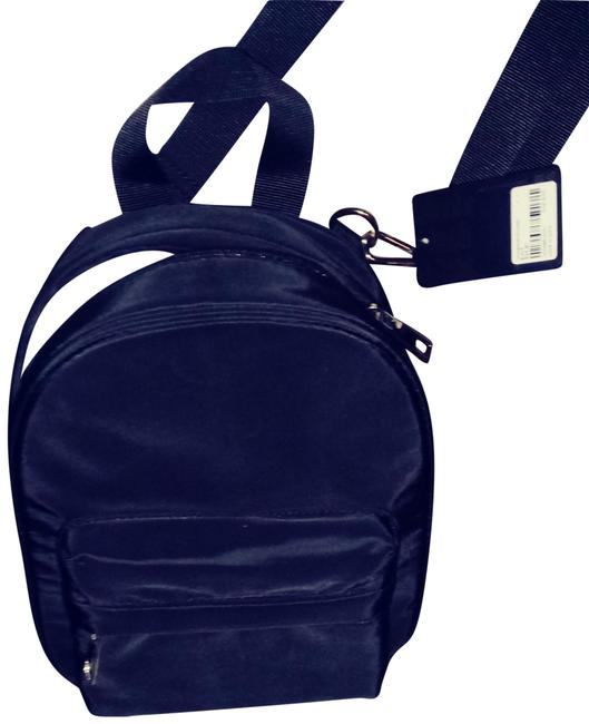 Item - Black Vinyl Cross Body Bag
