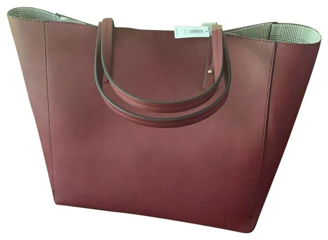 Item - * Burgundy Synthetic Leather Tote