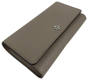 Tory Burch New Tory Burch Robinson French Gray Continental Wallet