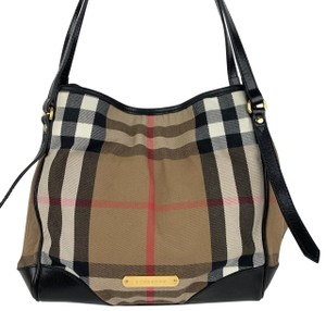 Burberry Tote in Brown, Tan, Check