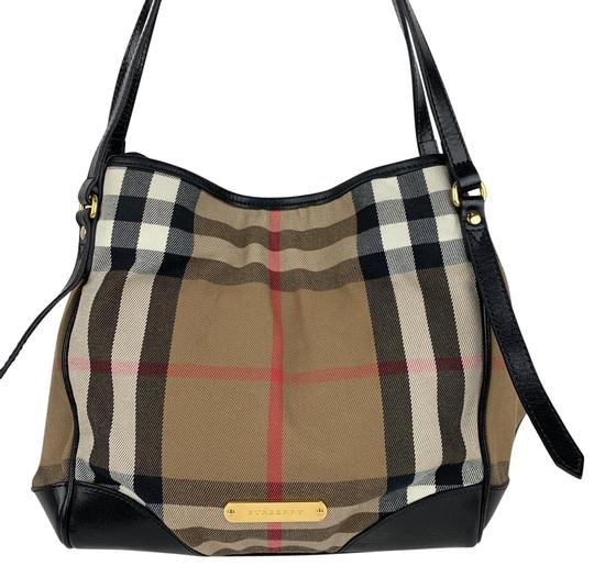 Preload https://img-static.tradesy.com/item/25848373/burberry-new-bridle-house-canterbury-brown-tan-check-canvas-and-leather-tote-0-1-540-540.jpg