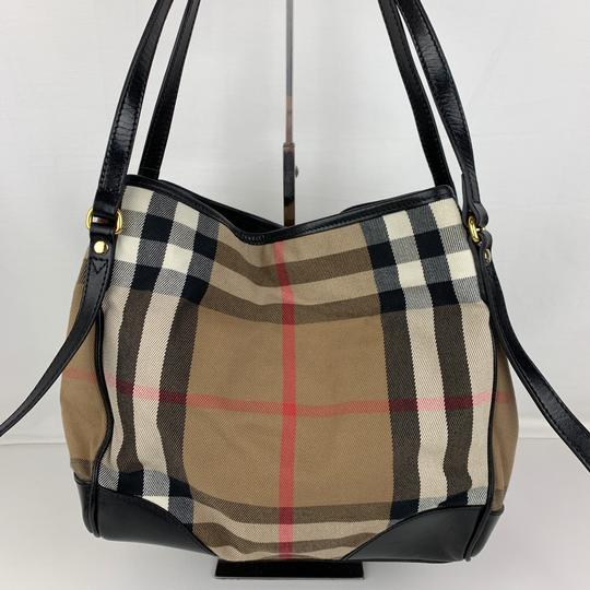 Burberry Tote in Brown, Tan, Check Image 1