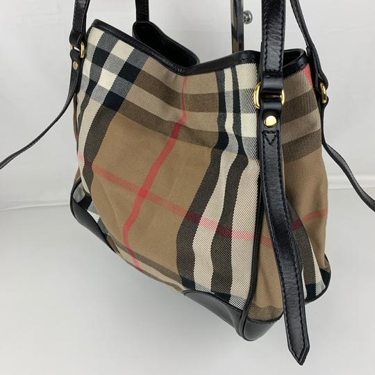 Burberry Tote in Brown, Tan, Check Image 3