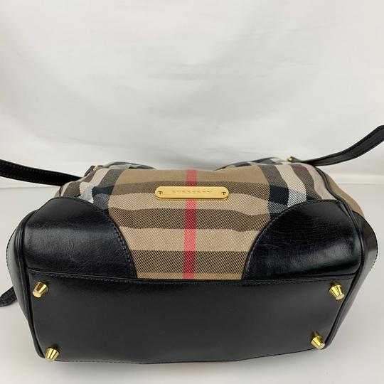 Burberry Tote in Brown, Tan, Check Image 5