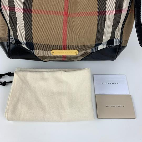 Burberry Tote in Brown, Tan, Check Image 6