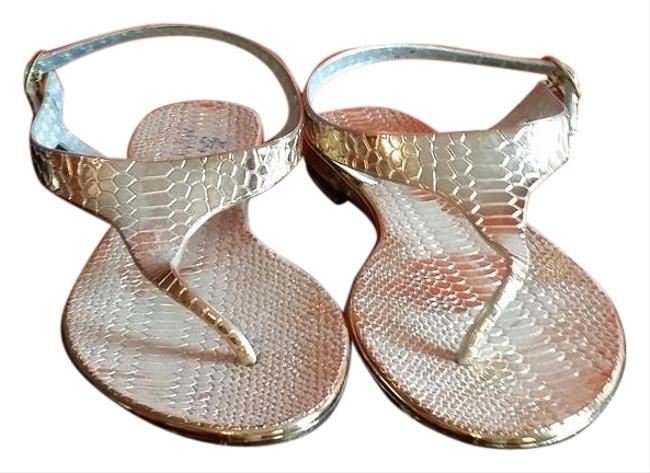 Chico's Gold Jelly Nwob Plastic Sandals Size US 8 Regular (M, B) Chico's Gold Jelly Nwob Plastic Sandals Size US 8 Regular (M, B) Image 1