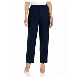 Alfred Dunner Straight Pants navy blue