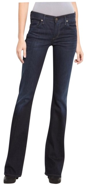 Item - Blue Dark Rinse Amber Mid-rise Boot Cut Jeans Size 6 (S, 28)
