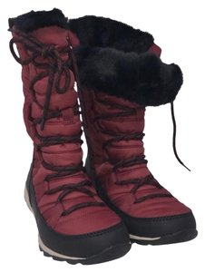 Sorel Black and Red Boots